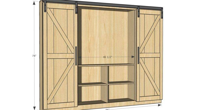 Ana White Sliding Door Cabinet Diy Projects