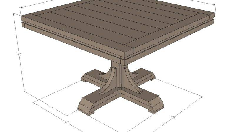 Ana White Square Pedestal Table Diy Projects