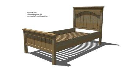 Ana White Toddler Farmhouse Bed Diy Projects