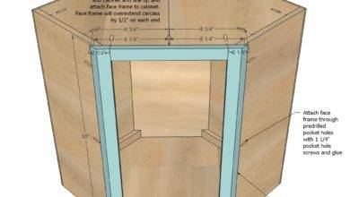 Ana White Wall Kitchen Corner Cabinet Diy Projects