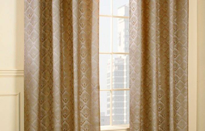 Anna Insulated Lace Grommet Curtain Panels