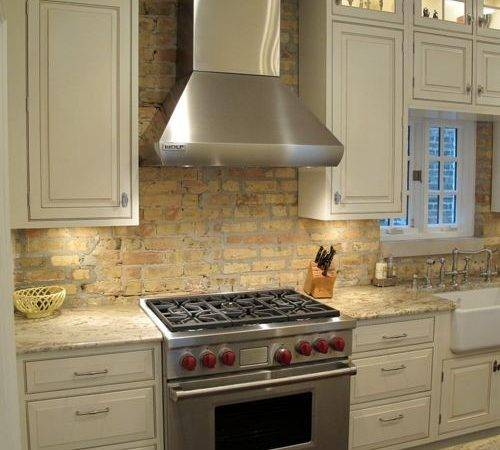 Antique Brick Backsplash Houzz