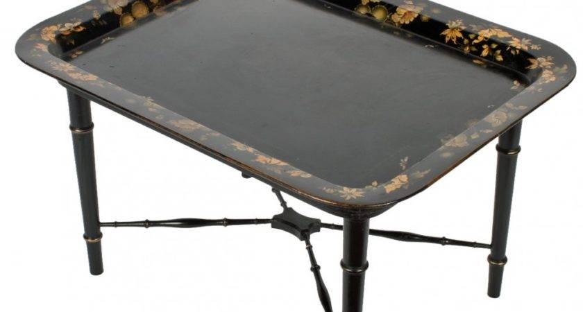 Antique Coffee Table Tray Top Victorian
