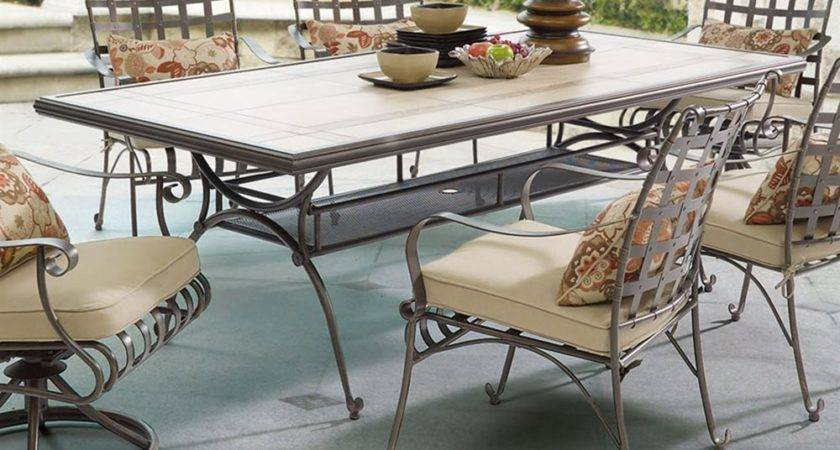 Antoine Rectangle Tile Top Patio Table Dcg Stores