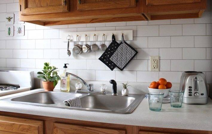 Apartment Solutions Install Fake Backsplash Curbly