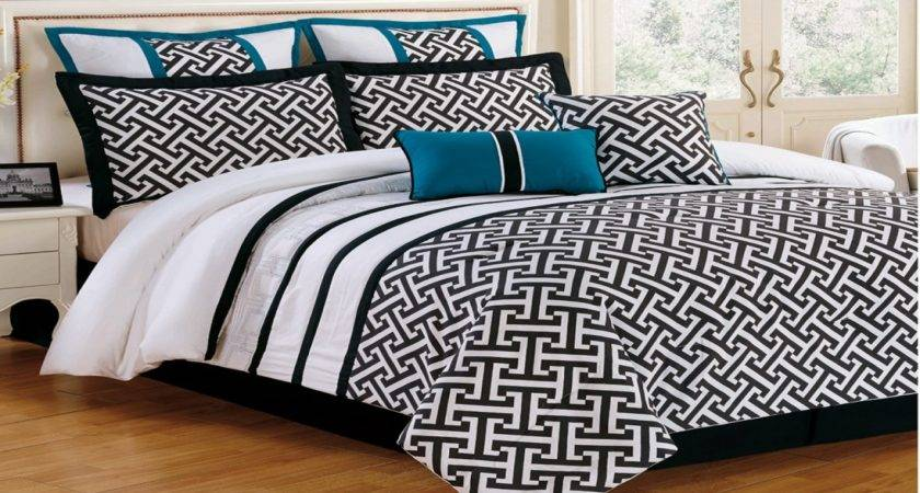 Aqua Black Bedding