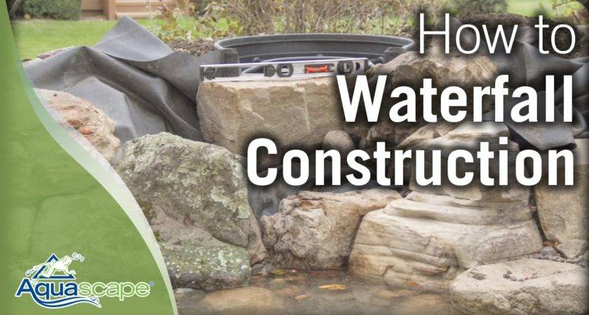 Aquascape Step Waterfall Construction Youtube