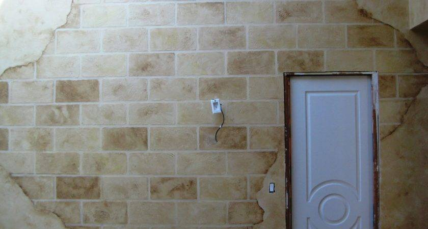 Array Color Inc Distressed Faux Block Wall