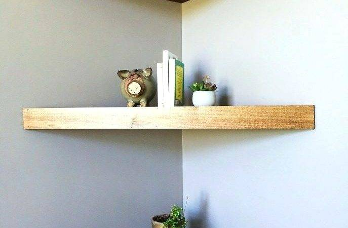 Astounding Floating Corner Shelves Large Wall
