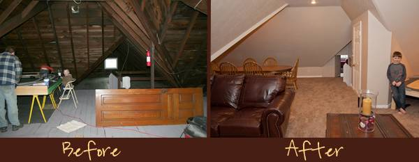 Attic Remodel Before After Happy Chaos
