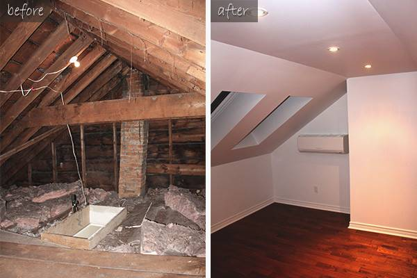 Attic Remodeling Downtown Toronto Creating Office