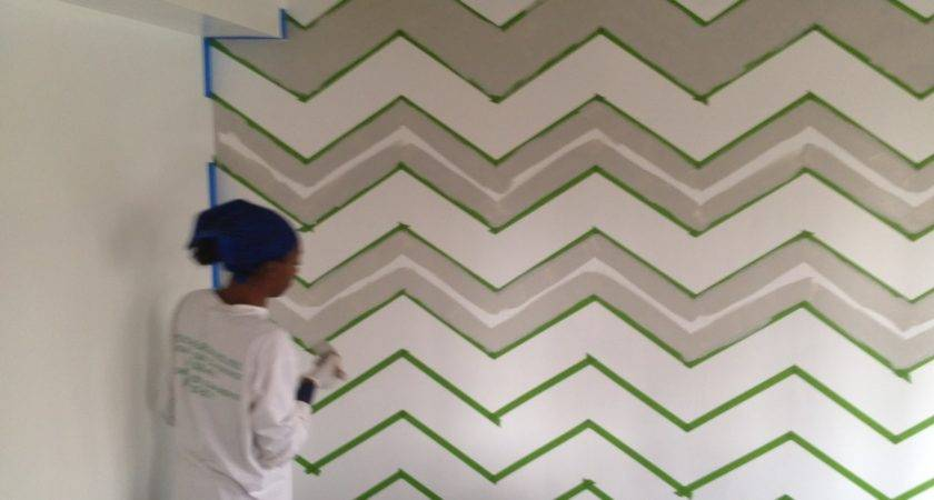 Atypical Day Painting Chevron Wall