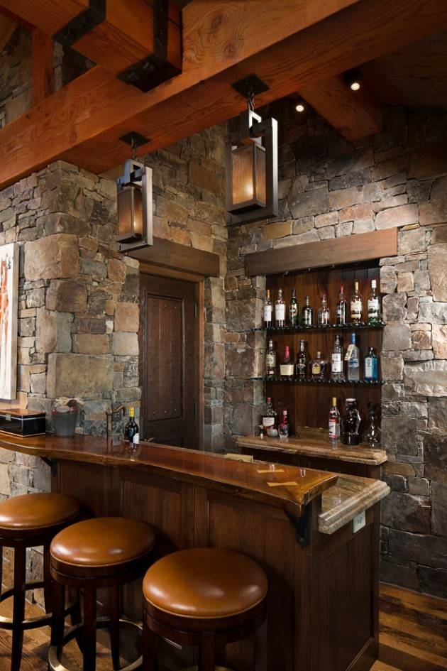 16 Awe Inspiring Rustic Home Bars For An Unforgettable Party: 25 Spectacular Rustic Bar