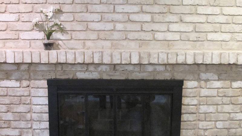 Awesome Painted Brick Fireplaces Gray