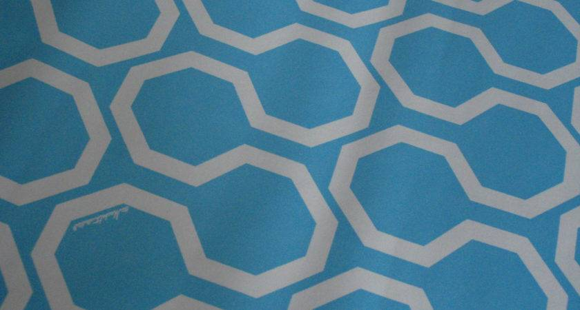 Baby Blue White Geometric Pattern Contact Paper