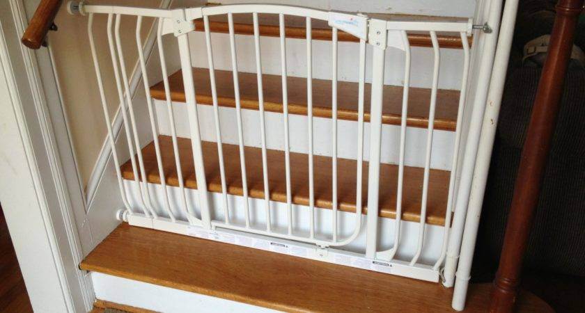 Baby Gate Stairs Banister Attractive