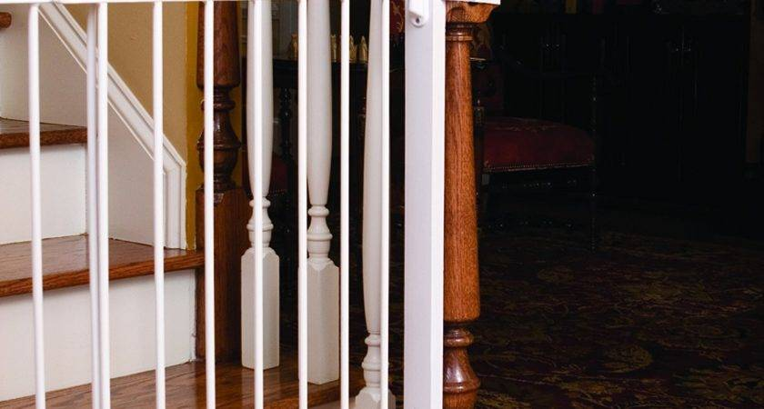 Baby Gate Stairs Banister Neaucomic