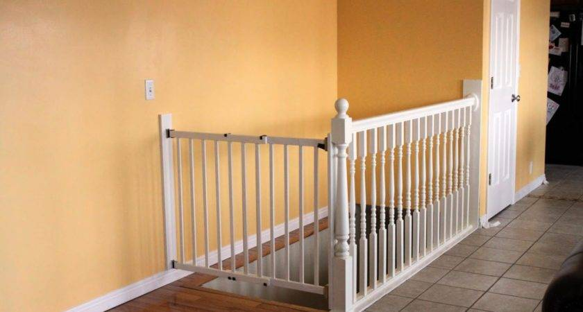 Baby Gate Stairs Banister Wall Delightful