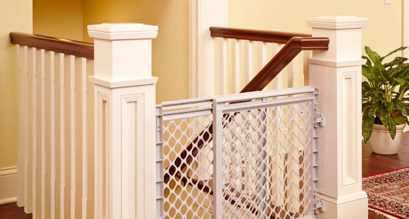 Baby Safety Gate Plastic Stairway Infant Gray Heavy