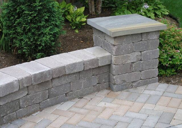 Backyard Patio Seat Wall Pillars Landscape Other