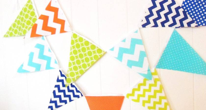 Banner Bunting Fabric Pennant Flags Orange