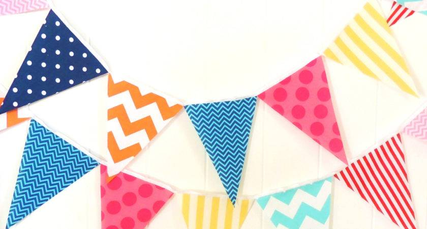 Banner Bunting Fabric Pennant Garland Flags Baby Shower