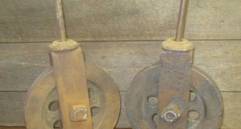 Barn Door Carriage House Rolling Hardware Vintage Pulley