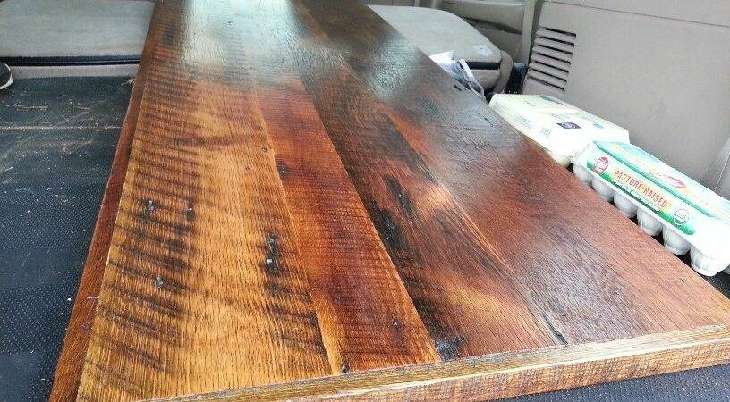 Barnwood Countertop Kitchen Island