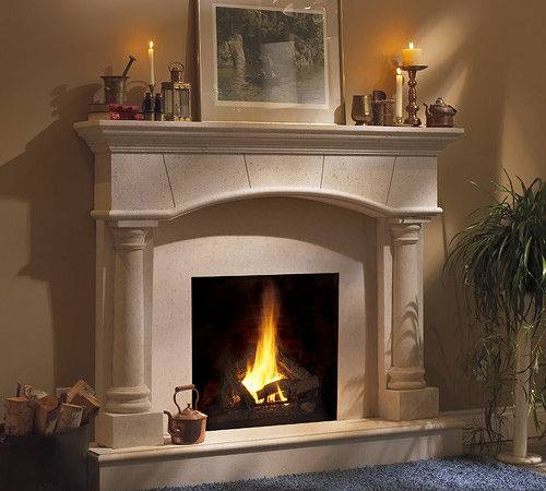 Barrington Classic Stone Fireplace Mantel Mantelsdirect