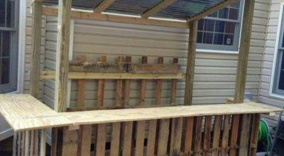Bars Made Wood Pallets Pallet Furniture Projects