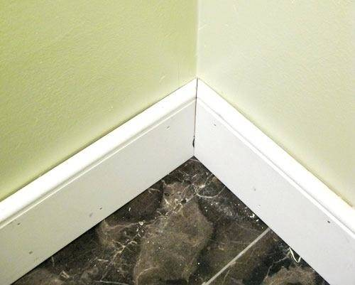 Baseboard Trim Ideas Tape Spacers Above