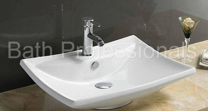 Basin Sink Countertop Ceramic Bathroom Cloakroom Wall Hung