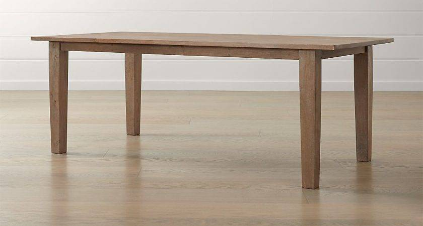 Basque Grey Wash Dining Table Crate Barrel