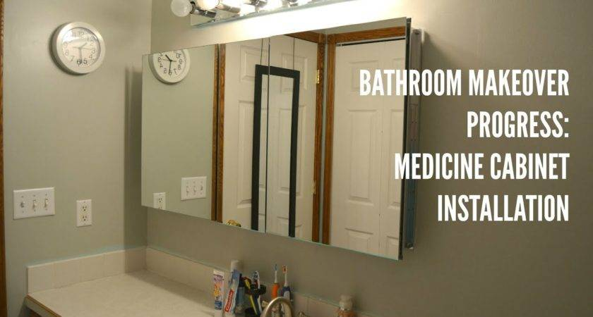 Bathroom Medicine Cabinet Installation Youtube