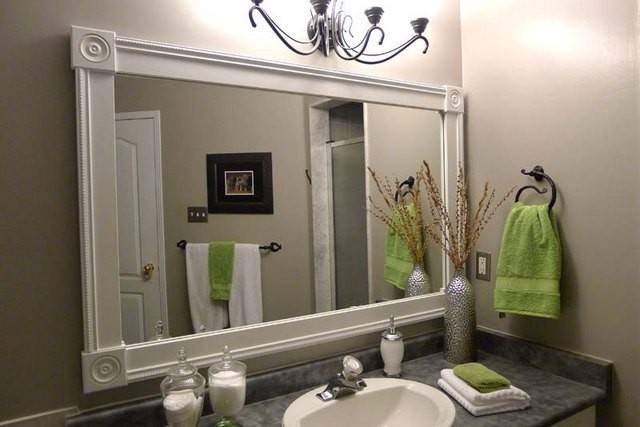 Bathroom Mirror Frames Diy Frame