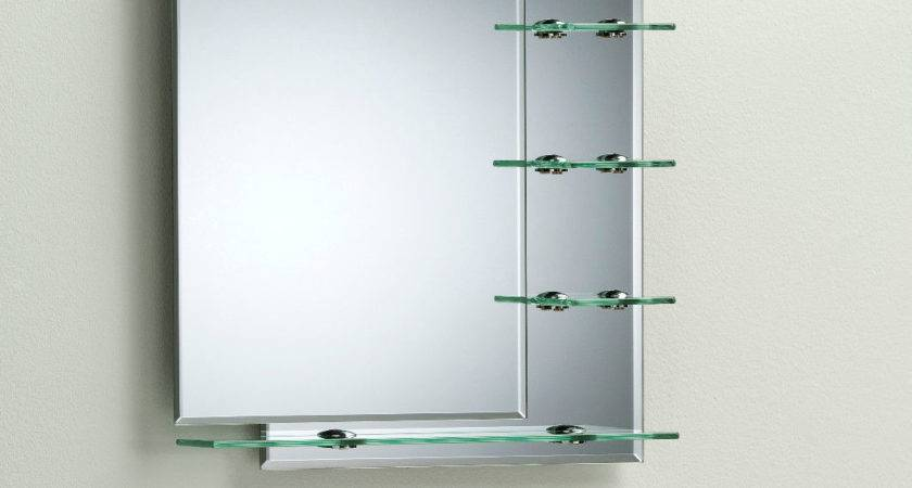 Bathroom Mirror Modern Stylish Shelves Frameless Wall