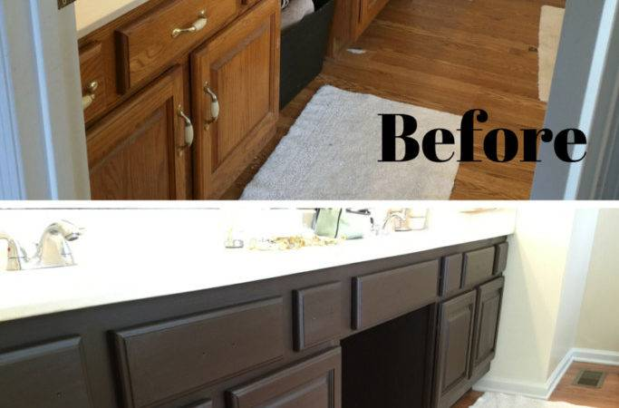 Bathroom Vanity Transformation Diy Chalk Type Paint