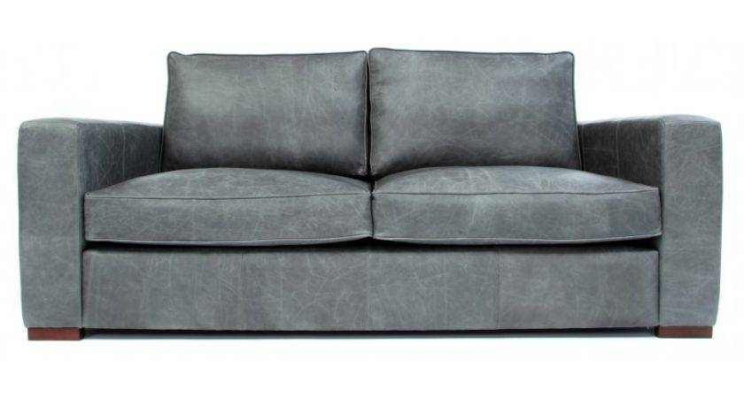 Battersea Vintage Leather Small Seater Sofa Old
