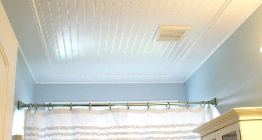 Beadboard Ceiling Bathroom