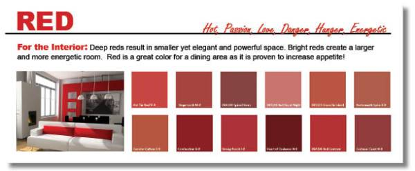 Beauteous Shades Red Paint Inspiration Design