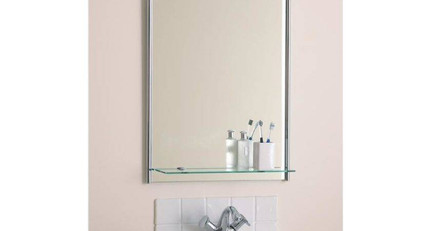Beautiful Bathroom Mirror Glass Shelf Endon