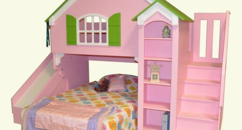 Beautiful Castle Bunk Beds Slide Stair Combined