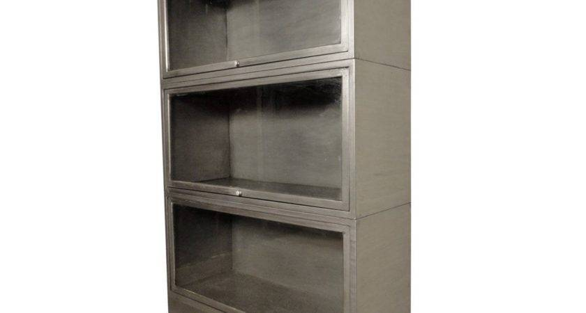 Beautifully Restored Industrial Metal Barrister Bookcase
