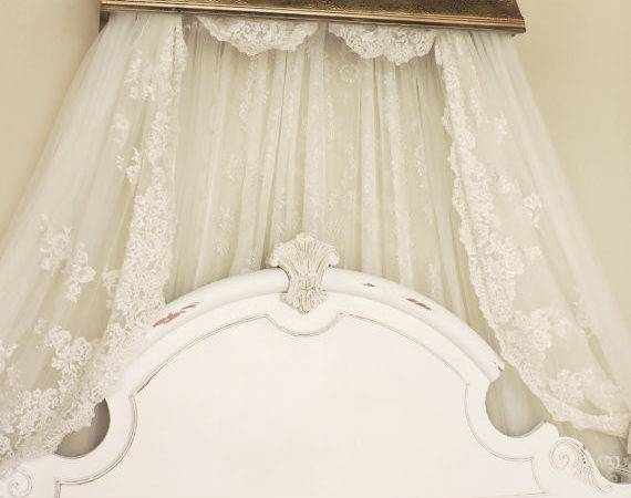 Bed Crown Canopy Crib French Old