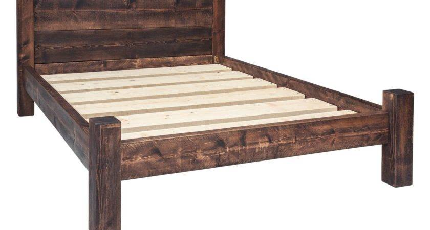 Bed Frame Double Plank Headboard Funky Chunky Furniture