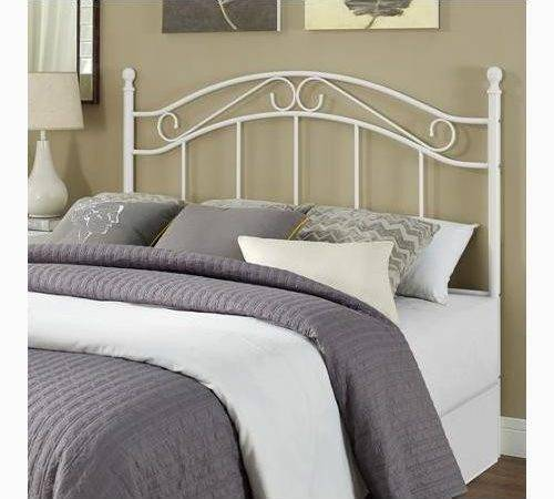 Bed Frame Metal White Headboard Modern
