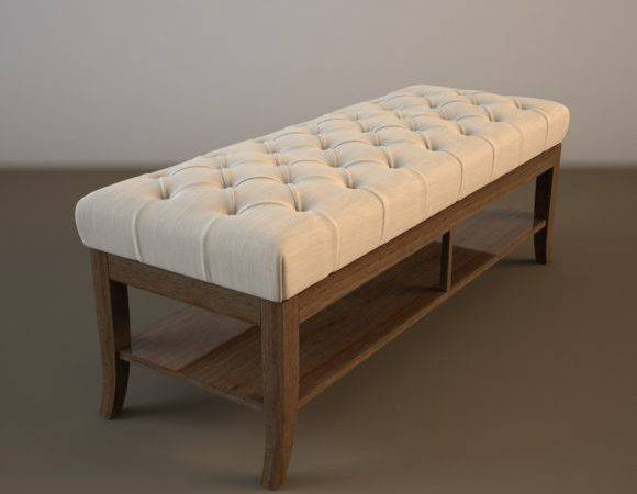 Bedroom Brown Wooden End Bed Benches Shelf
