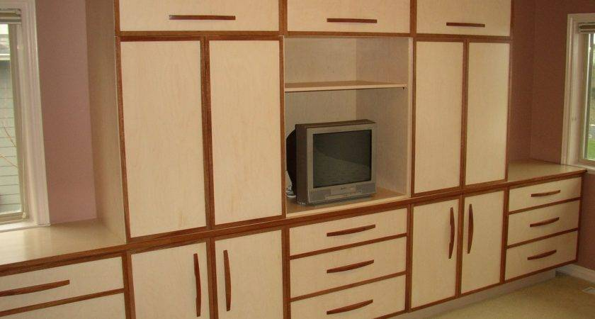 Bedroom Cool Bench Built Wall Cabinets