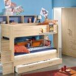 Bedroom Designs Kids Beds Storage Wooden Bunk Bed
