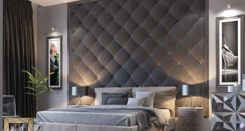 Bedroom Feature Wall Textured Paint Designs